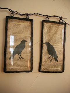 I'm interested in this technique (the post and the one just prior to it, which explains putting the glass over the picture - glass is from an old light fixture) ... I'm thinking of making these with songbirds in color on a background of sepia-toned newsprint