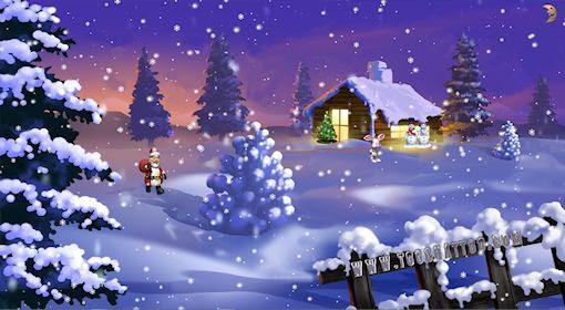 Le Père Noël De Toochattoo Apporte Ses Fonds Décrans Animés