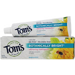 Tom's of Maine Natural Toothpaste Botanically Bright Whitening FluorideFree SLSFree 4.7 oz.