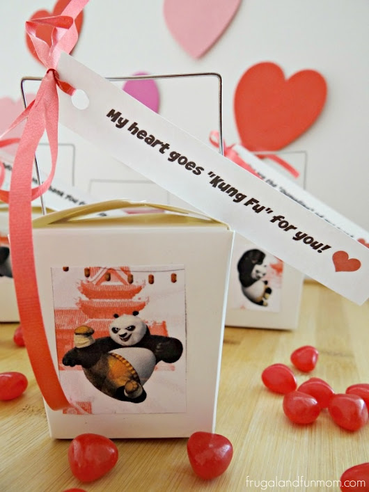 Kung Fu Panda 3 Valentine's Day Chinese Take Out Boxes! #FandangoFamily #KungFuPanda - Frugal and Fun Mom/ Florida Mom Blog, Recipes, Crafts, Family Fun