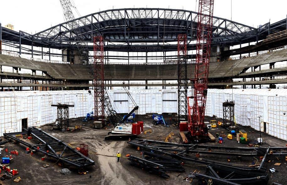 La construction de l'édifice multifonctionnel, dont les coûts sont estimés à près de 400 millions, s'étaient amorcés en 2012.