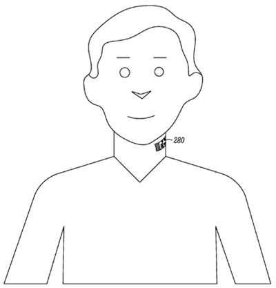 Google patent: THROAT TATTOO with lie-detecting mobe microphone built-in