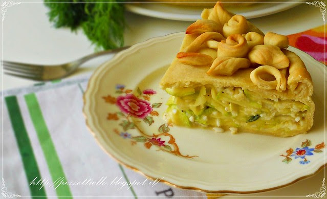 Torta salata di zucchini e riso