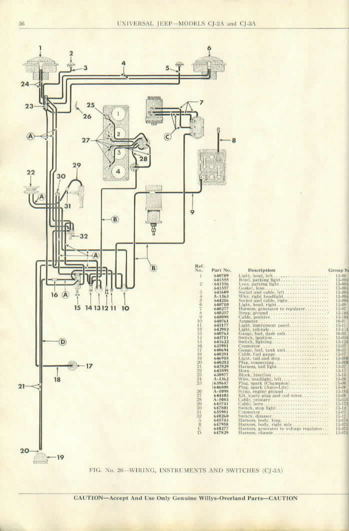 1956 Jeep Cj5 Wiring Diagram Wiring Diagram View A View A Zaafran It