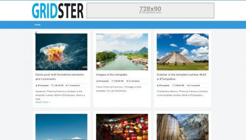 Gridster Blogger template - BTemplates