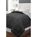 King Reversible Down Alternative Microfiber Comforter - Black/Platinum