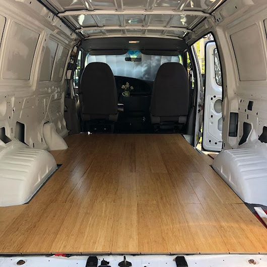 Building Out The Ford E250: Floor Is Down. Sorta.