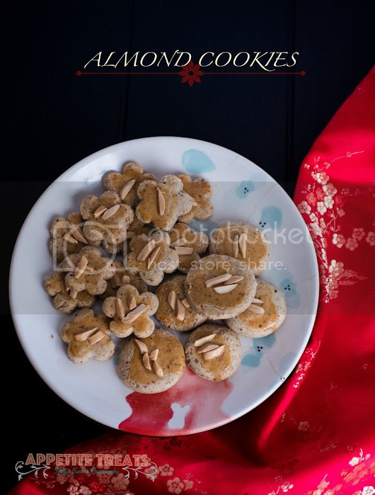 Almond Cookies | Eggless and Butter-less Cookies