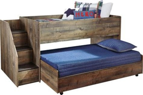 ashley trinell loft  left stairs trundle bed