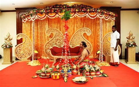 Hindu marriage stage decoration photos