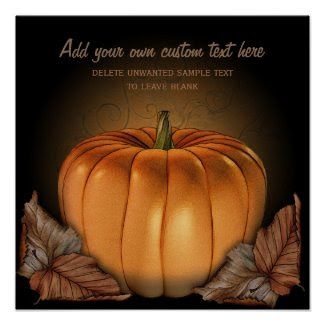 Giant Pumpkin Custom Halloween Poster