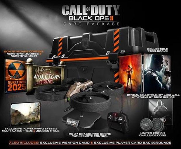 A edição de colecionador do game 'Call of Duty: Black Ops II' virá com 'drone' (Foto: Divulgação)