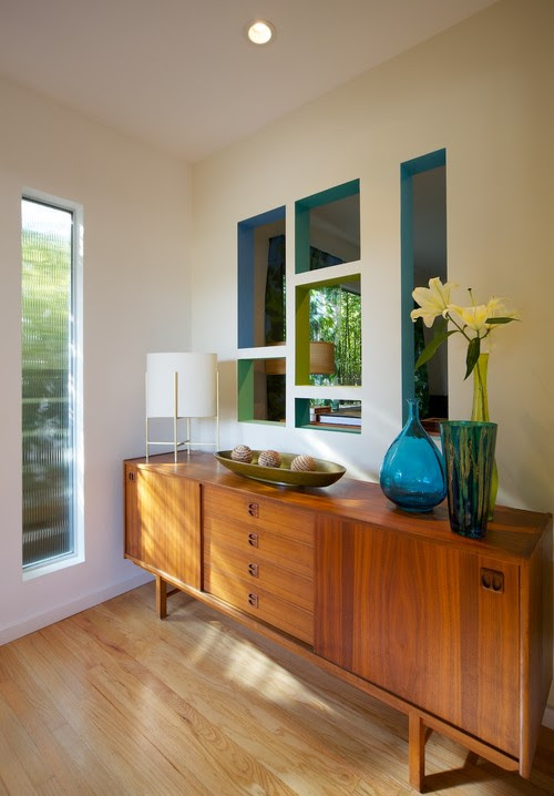 Mid-century style entry modern entry