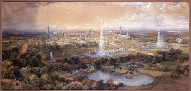 James Harding, Bird's Eye View, inscribed the Crystal Pa (1)