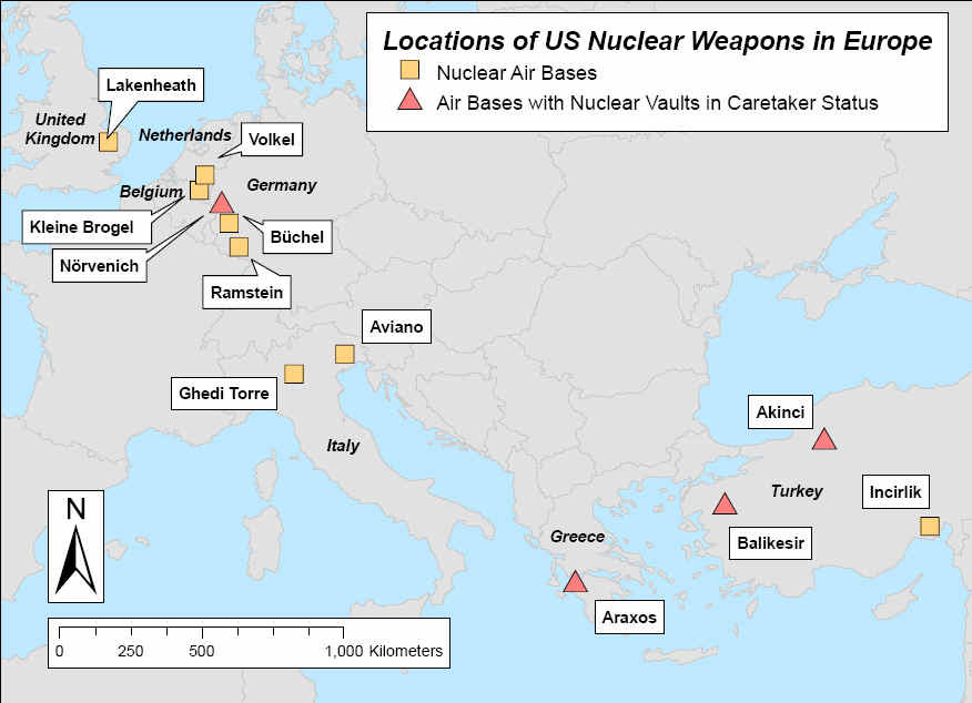 (Source: National Resources Defense Council, Nuclear Weapons in Europe , February 2005)