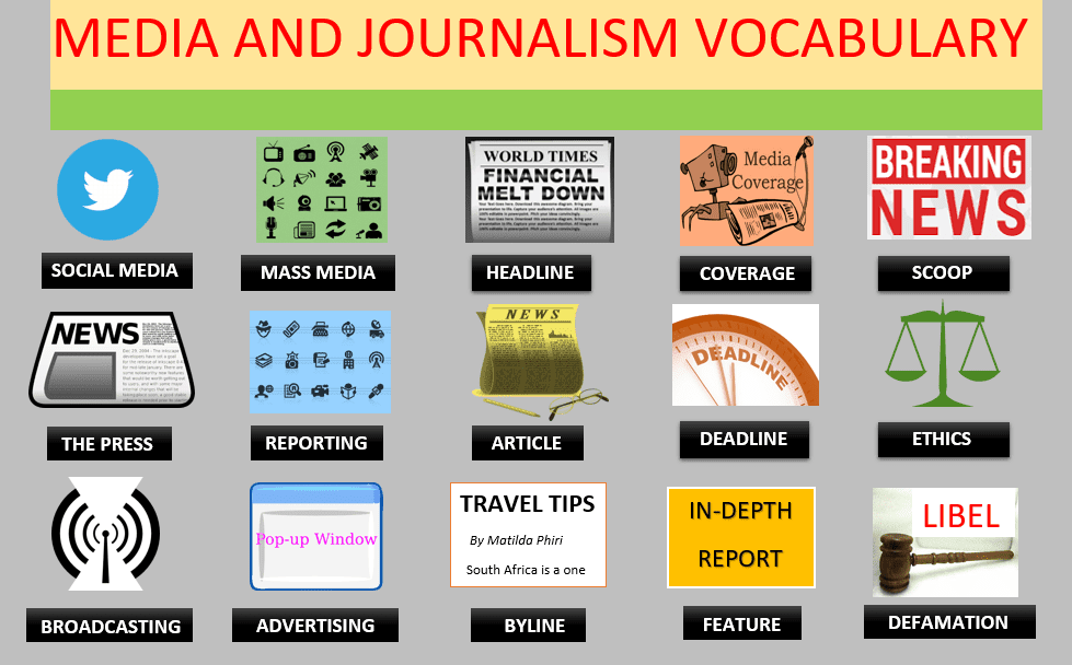 Vocabulary MEDIA AND JOURNALISM WEBSITE Learn English With Africa October 2016