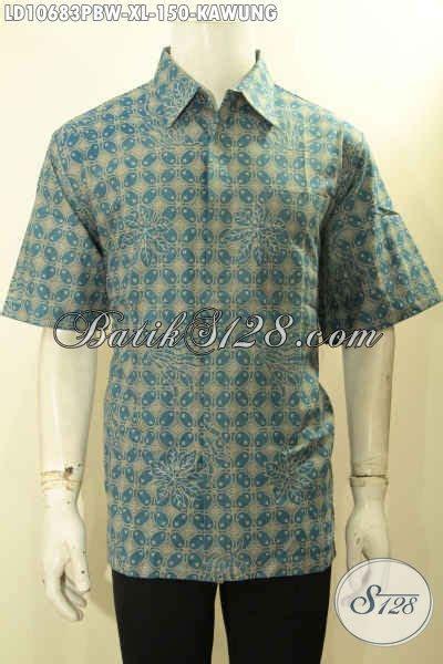 model baju batik kerja pria dewasa hem batik ukuran xl