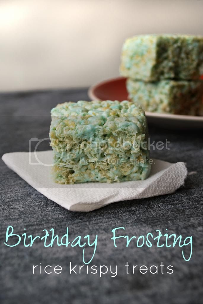 Frosting Rice Krispy Treats