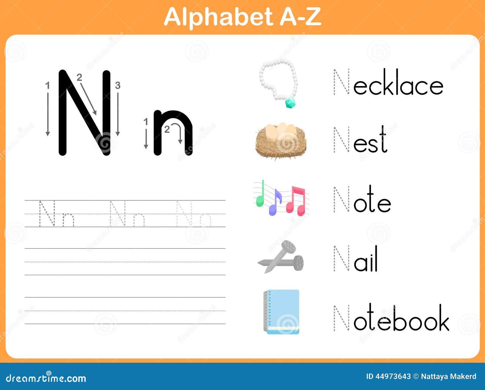 Printable Alphabet Tracing Worksheets A Z - Calendar June