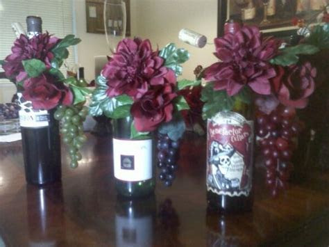 Wine Bottle centerpieces   Weddingbee Photo Gallery