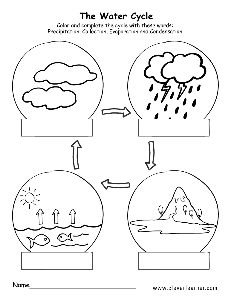 science water cycle worksheet for firstgrade 5b
