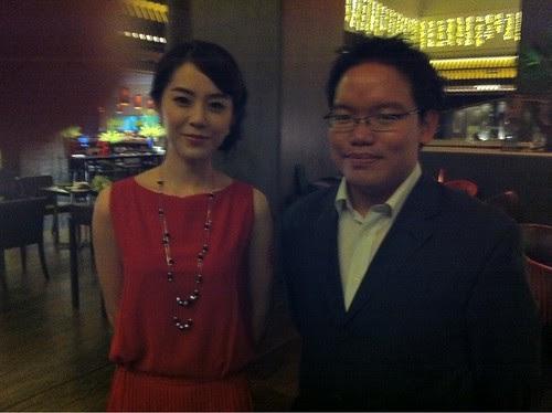 With the actress Meng Li 孟丽