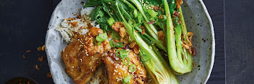 Sticky Soy Chicken With Garlic Rice And Sesame Sprinkle Recipe