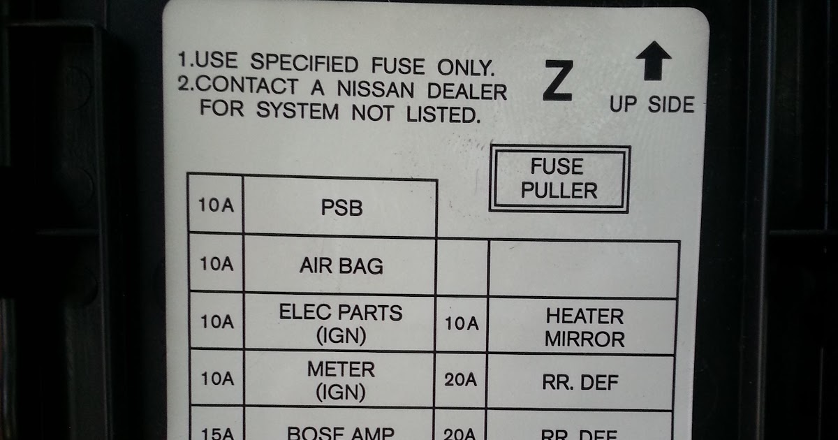 07 Infiniti G35 Fuse Box Location