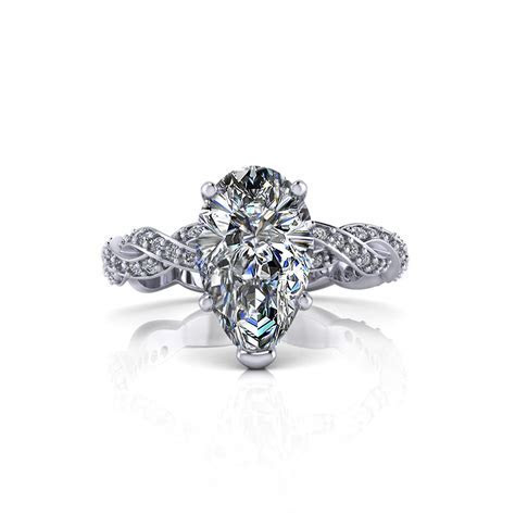 Infinity Pear Shape Engagement Ring   Jewelry Designs