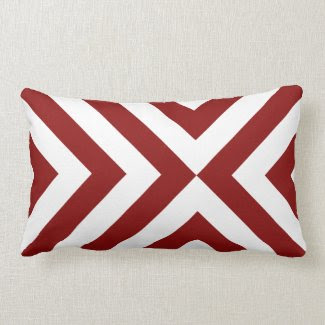 Red and White Chevrons throwpillow