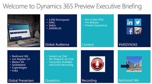 Microsoft Dynamics 365 July 2017 Release Preview, Part 3 (with images, tweets) · jukkan