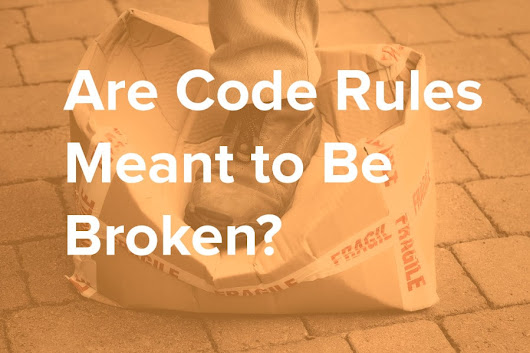 Are Code Rules Meant to Be Broken? - NDepend