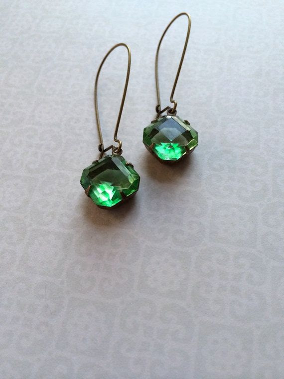 Vintage Earrings By SBC Octagon Vintage by sandybeachcollection, $16.00
