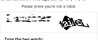 Dear Blogger word verification thingy...