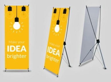 Contoh Desain X Banner Menarik - desain banner kekinian