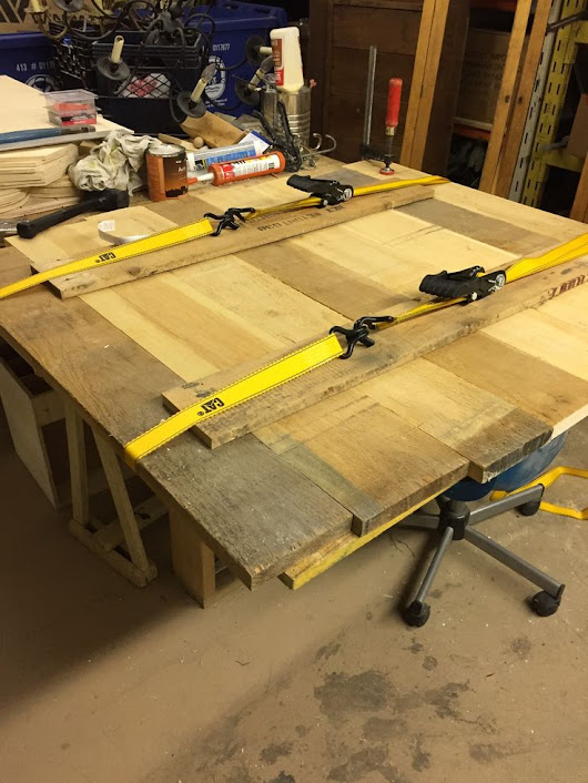 This is what you can do if your bar or pipe clamps are not long enough for your glue up. | Home Inspection | Pinterest