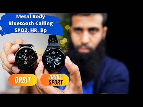 CrossBeats Orbit & Orbit Sport smartwatch with metal body, bluetooth calling, spo2, hr, bp