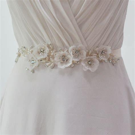 S249Handmade Elegant Flower Beaded Waistband Belt Wedding