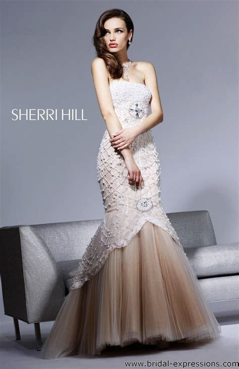 Caroline Forbes Ball Gown   Sherri Hill 2789 Beaded