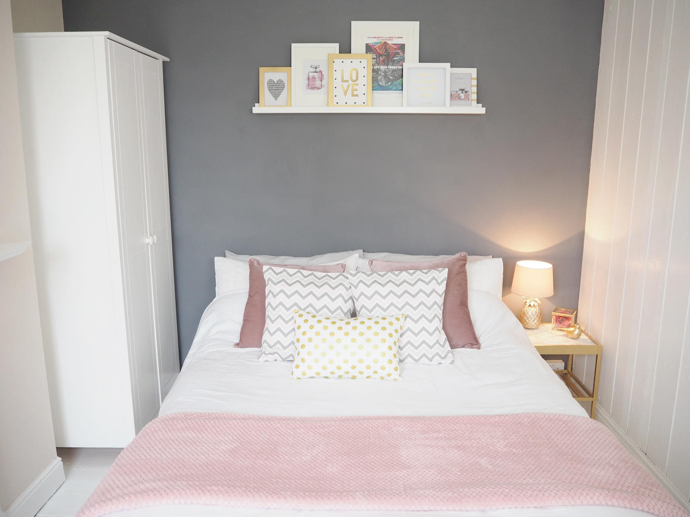 PINK  GREY BEDROOM MAKEOVER  Bang on Style