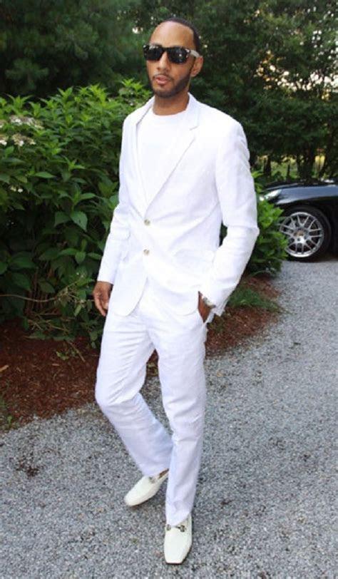 tall dark  handsome mens white suit summer wear