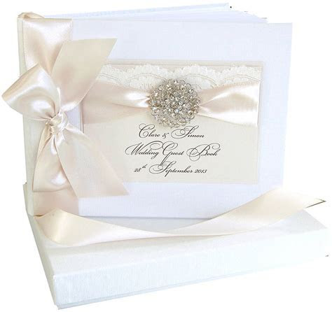opulence wedding guest book personalised by made with love