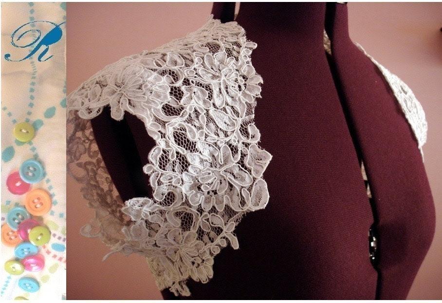 Sweet Little Bridal Shrug- White or Ivory lace