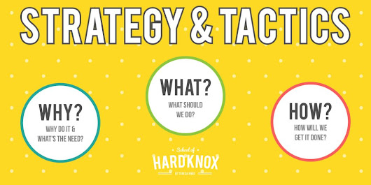 STRATEGY v. TACTICS — What's the Deal? – School of Hard Knox