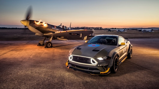 At Woodward Dream Cruise, Vaughn Gittin Jr. Presents Keys to Eagle Squadron Mustang GT That Raised Funds for Young Pilots | Ford Media Center