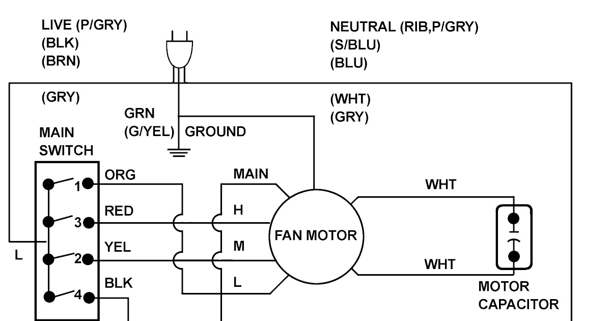 Home Air Conditioner Fan Wiring Diagram