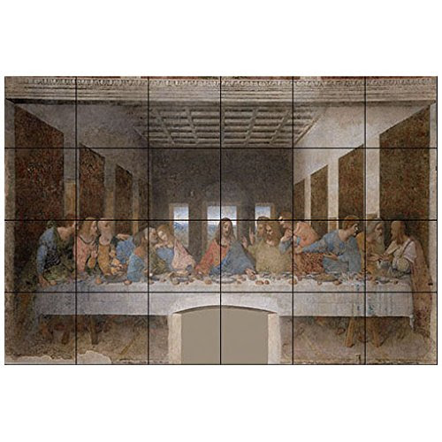 Where To Buy Leonardo Da Vinci The Last Supper Ceramic Tile Mural 30