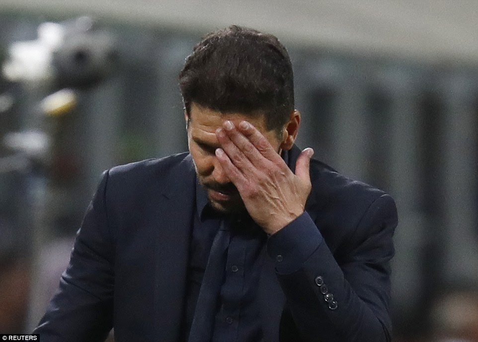 Diego Simeone will have been frustrated at failing to break down Real in the opening half and he had to find a different method of playing