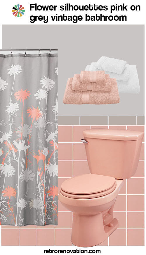 12 ideas to decorate a pink and gray vintage bathroom ...
