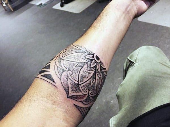 50 Forearm Band Tattoos For Men Masculine Design Ideas